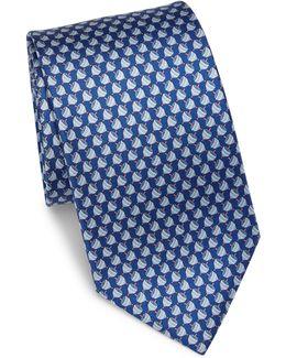 Dreidel Silk Tie