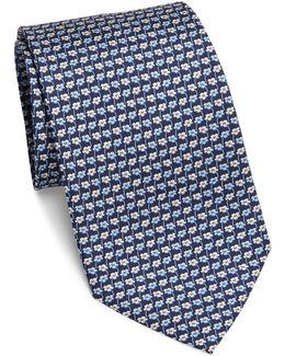 Flower Repeat Silk Tie