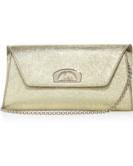 Vero Dodat Metallic Leather Clutch