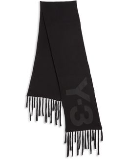 Merino Wool & Cotton Graphic Scarf