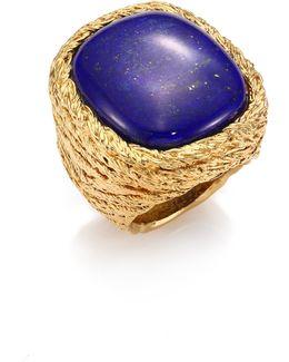 Miki Lapis Lazuli Ring