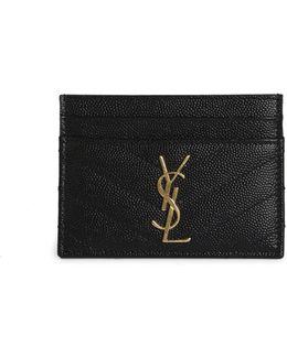 Monogram Matelasse Leather Card Case