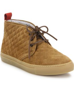 Quilted Suede Chukka Sneakers