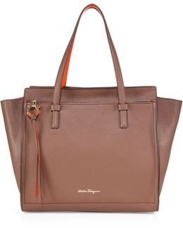 Amy Large Two-tone Leather Tote
