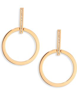 Antonia Crystal Hoop Earrings/1.5