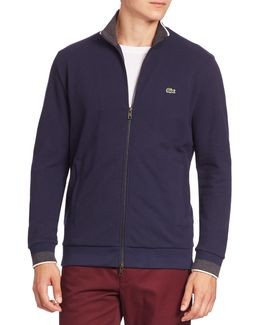 Semi-fancy Pique Full-zip Sweatshirt