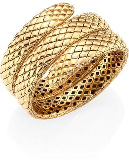Cobra 18k Yellow Gold Triple Coil Bracelet