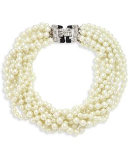 Eight Strand Faux-pearl Necklace