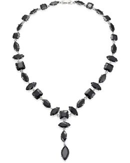 Jagged Edge Marquis Y Necklace