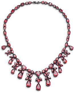 Monarch Heart Drop Bib Necklace