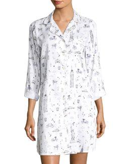 Notch Collar Sleepshirt
