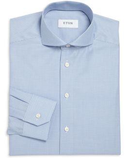 Slim-fit Microcheck Dress Shirt