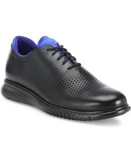 Zerogrand Perforated Two-tone Leather Oxfords