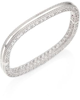 Princess 18k White Gold Bangle Bracelet