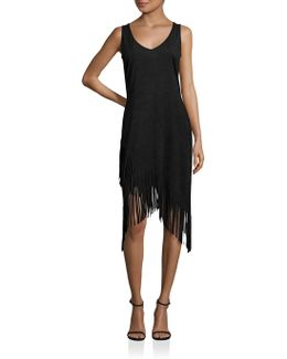 Asymmetrical Fringe Dress