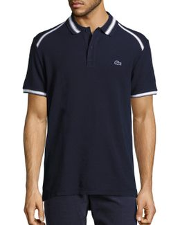 Short Sleeve Contrast Trimmed Polo