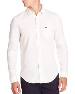 Pique Jacquard Pattern Woven Shirt