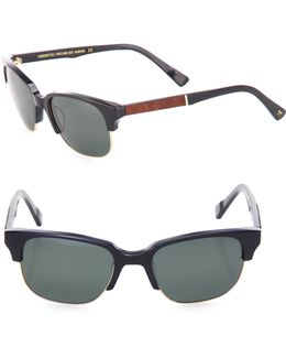 Newport 52mm Acetate & Mahogany Sunglasses