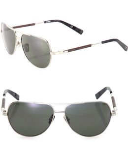 53mm Titanium & Ebony Sunglasses