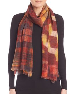 Winter Checks Cashmere & Silk Scarf
