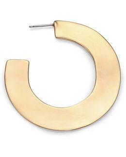 Liquid Metal Orbital Hoop Earrings/1.8