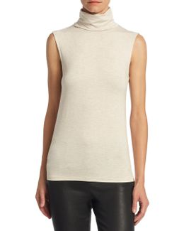 Soft Touch Sleeveless Turtleneck Top