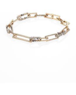 Crystal-encrusted Soft Link Bracelet