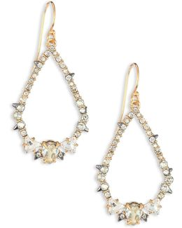 Spiked Crystal Teardrop Earrings