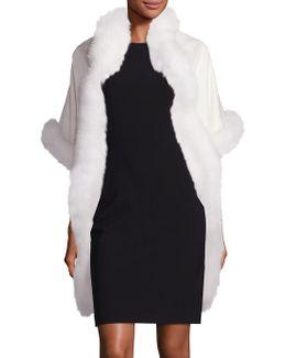 Cashmere & Fox Fur Cape