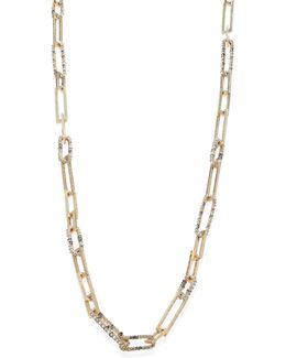 Crystal Link Strand Necklace