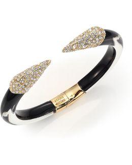 Titan Lucite & Crystal Cuff Bracelet