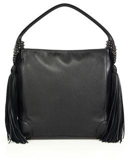 Eloise Empire Studded Leather Hobo Bag