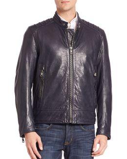 Long Sleeve Leather Jacket