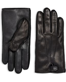 Leather & Faux Fur Gloves