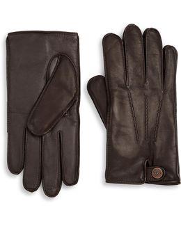 Leather & Faux Fur Gloves