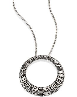Classic Chain Sterling Silver Graduated Pendant Necklace