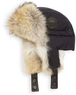 Fur-Lined Aviator Hat
