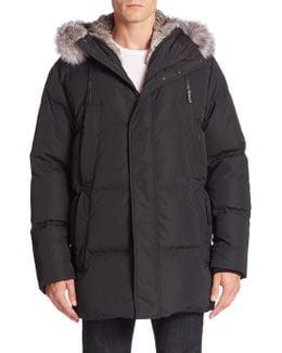 Fur Trim Hooded Jacket