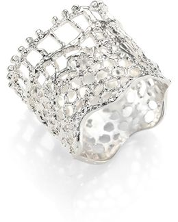 Vintage Lace Ring/silvertone