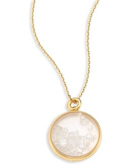 Fine Pearl & 18k Yellow Gold Medallion