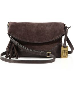 Tassel Leather Crossbody Bag