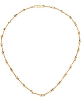 18k Yellow Gold Twisted Chain Necklace/16