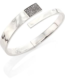 Sensotm Diamond & Sterling Silver Embrace Bangle Bracelet