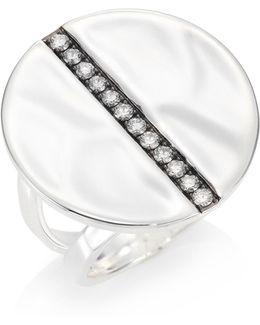 Sensotm Diamond & Organic Sterling Silver Ring
