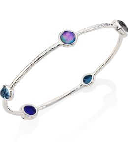 Rock Candy? Eclipse Mixed Stone & Sterling Silver Bangle Bracelet