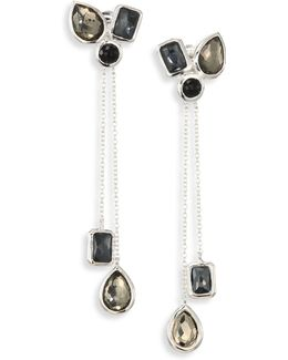Rock Candy? Black Tie Mixed Stone & Sterling Silver Cluster Earring