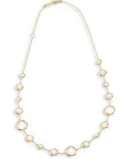 Rock Candy? Lollipop? Clear Quartz & 18k Yellow Gold Short Necklace