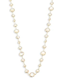 Rock Candy? Lollipop? Clear Quartz & 18k Yellow Gold Long Necklace