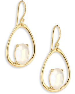 Rock Candy? Small Mother-of-pearl Doublet & 18k Yellow Gold Oval Earrings
