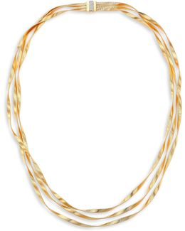 Marrakech Diamond, 18k Yellow & White Gold Multi-strand Necklace